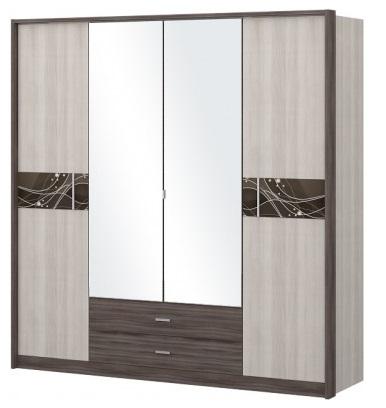 Шкаф 4-х дв. с зеркалом Николь 1