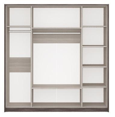 Шкаф 4-х дв. с зеркалом Николь 2