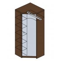 Мод. М14 Шкаф угловой с зеркалом Модена 1
