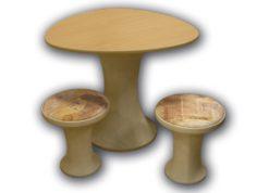 Стол №2 и 2 табурета 1