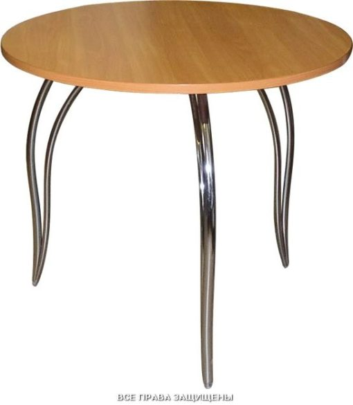 Круглый кухонный стол М141-03 МДФ 1