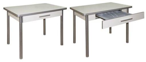 Стол раскладной М142.83 с ящиком 2