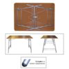 Стол раскладной М144-01 (мдф) 2