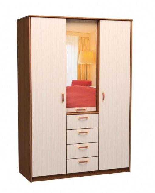 Шкаф 3-х дверный 4-ящика 1