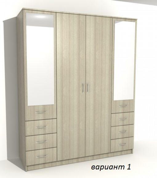 Шкаф 4-х дверный 6 ящиков 1