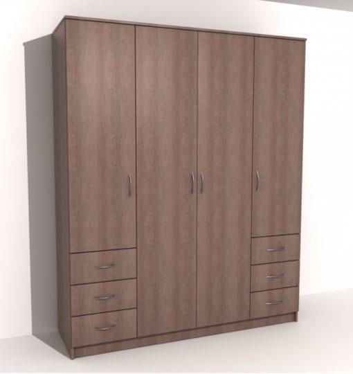 Шкаф 4-х дверный 6 ящиков 2
