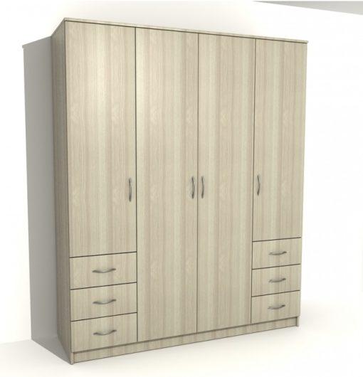 Шкаф 4-х дверный 6 ящиков 3