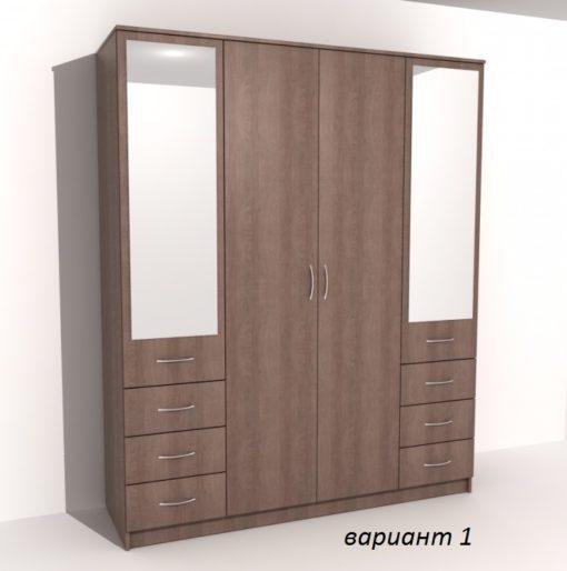 Шкаф 4-х дверный 6 ящиков 4