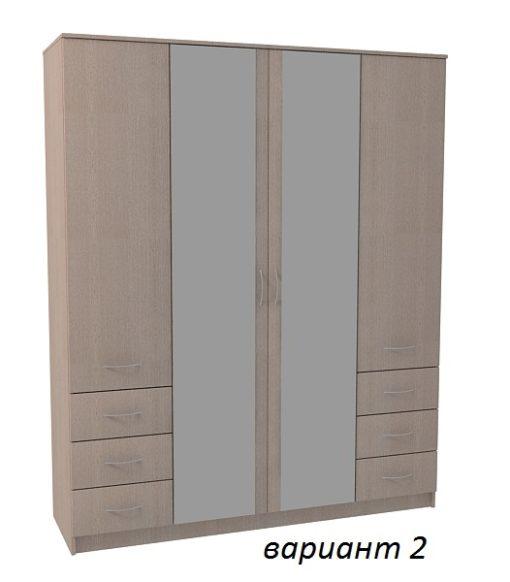 Шкаф 4-х дверный 6 ящиков 5
