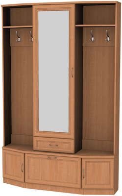 Шкаф для прихожей с зеркалом 600 1