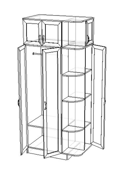Шкаф платяной комбинир. Альф-2 2