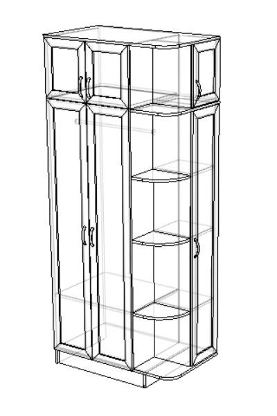 Шкаф платяной комбинир. Альф-2 3