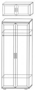 Шкаф для одежды и белья ШК1 2