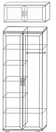 Шкаф для одежды и белья ШК2 2