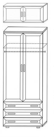 Шкаф для одежды и белья ШК3 2