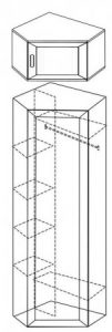 Шкаф для одежды и белья угловой ШКУ-2 2