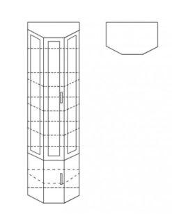 Шкаф сервант ШК11 2
