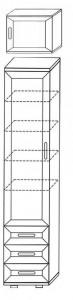Шкаф пенал для белья ШК6 А 2