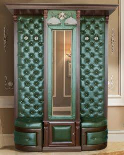 Шкаф для одежды с зеркалом и бра Б5.13 карамель 2