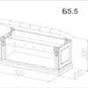 Банкетка «Благо 5» без двери 3