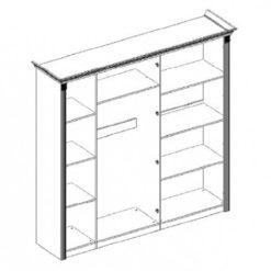 Шкаф 6-ти ств. Карина-3 (бежевый) без зеркал 2