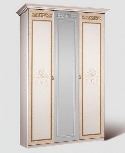 Шкаф 3-х ств. Карина-3 (бежевый) без зеркал 1
