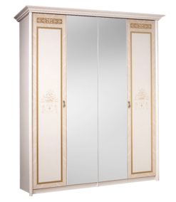 Шкаф 4-х ств. Карина-3 (бежевый) без зеркал 1