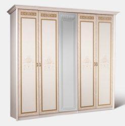 Шкаф 5-ти ств. Карина-3 (бежевый) без зеркал 1