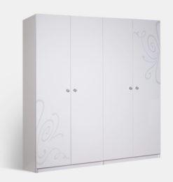 Шкаф 4-х ств. Европа-9 без зеркал (белый) 1