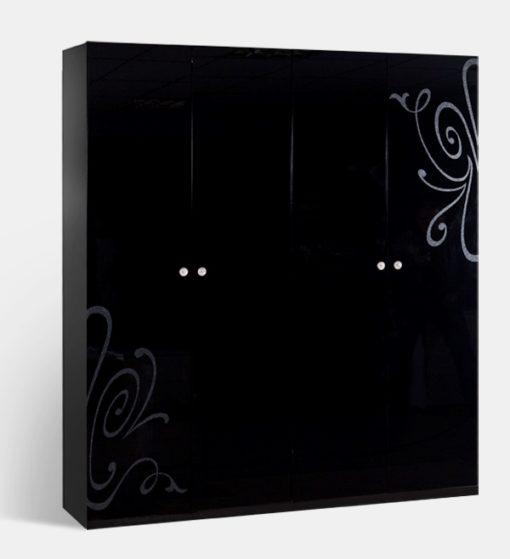 Шкаф 4-х ств. Европа-9 без зеркал (черный) 1