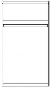 Шкаф 2-х дверный изд. 14 серии ЖК 4.5 вариант №1 2