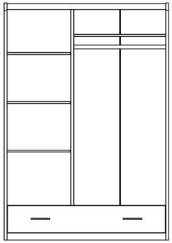 Шкаф 3-х дверный изд. 29 серии ЖК 4.5 вариант №1 2