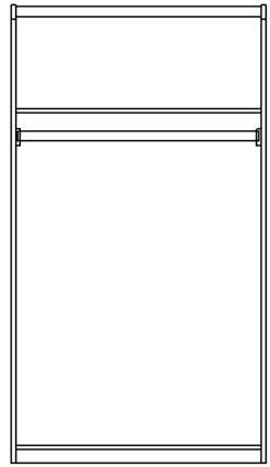 Шкаф 2-х дверный изд. 14 серии ЖК 4.5 вариант №3 2