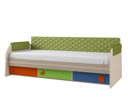 Кровать 12М серия 4.13 + спинка СМ № 7.1 1