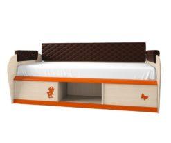 Кровать 12.1М серия 4.13 + спинка СМ № 7.1 (коричн. classic ромб) 1
