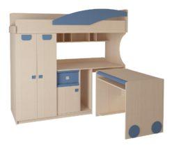 Детская № 4.4.2 + выкатной стол (синий) 1