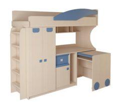 Детская № 4.4.2 + выкатной стол + лестница №2 (синий) 1