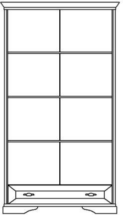 Шкаф 2-х двернный с 1 ящиком изд. 1 серии МК 21 2