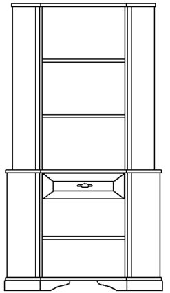 Шкаф угловой изд. 2 серии МК 21 2