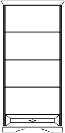 Шкаф-витрина изд. 5 серии МК 21 2