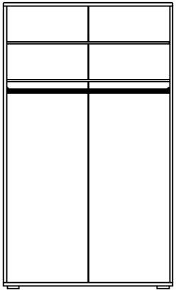 Шкаф для платья изд. 1 серии МК 30 2