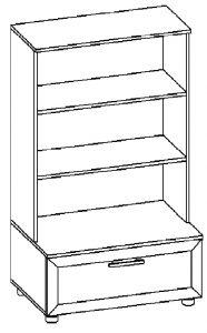 Шкаф для книг изд. 1 серии МК 40 2