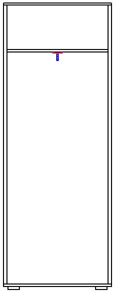 Шкаф для платья изд. 1 серии 19.1 2