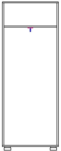 Шкаф для платья 1 дв. изд. 1 серии 22 (эко) 2