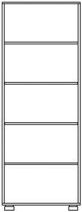 Шкаф для белья 1 дв. изд. 2 серии 22 (эко) 2