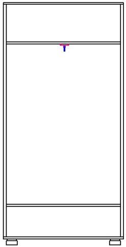 Шкаф для платья 2 дв. изд. 3 серии 22 (эко) 2