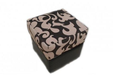 Пуфик откидной с ящиком квадратный 1