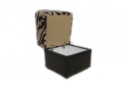 Пуфик откидной с ящиком квадратный 3