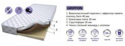 Матрас GRIFFON с эффектом памяти Memory Form 2