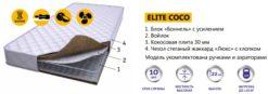 Жесткий пружинный матрас ELITE COCO 2